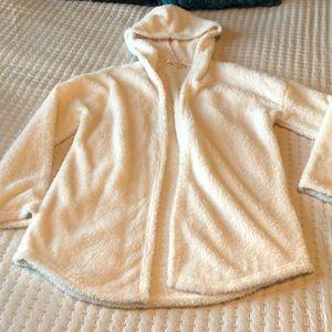 PINK REPUBLIC plush open hooded sweater NWOT